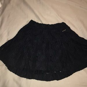 Navy Lace Abercrombie Skirt